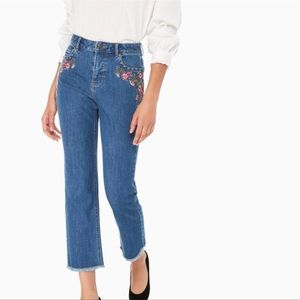 Kate spade ♠️ embroidered jeans nwot